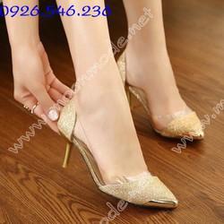 Giày cao gót nữ ánh kim sang trọng - Mã MM90028