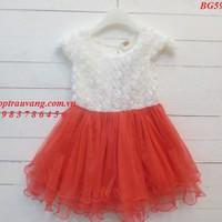 BG591 - Đầm voan bông hồng