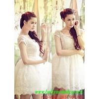 Chuyên sỉ lẻ Đầm xòe ren công chúa đẹp như Trương Quỳnh Anh DM82