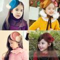 Mũ phớt bé gái dáng nhỏ kiểu đội lệch cá tính, phong cách thời trang