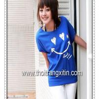 áo thun hình mặt cười nhí nhảnh - Mã: AX0204 - XANH