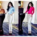 Quần jeans dài 5 nút màu trắng from chuẩn QD59ư