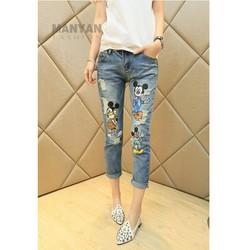 Quần jeans dài hình mickey Mã: QD405