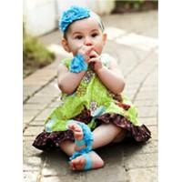 Set 2 Băng đô thun đầu và thun chân hoa xinh xắn cho bé gái