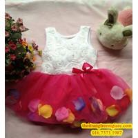 Đầm xòe hoa rơi-QG082