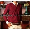 áo sơ mi nam màu đỏ tím Thời Trang  SV714