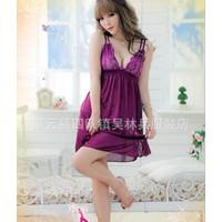 Đầm Ngủ Chéo Vai Violet W1949
