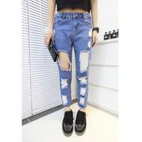 Quần jeans nữ rách vuông Mã: QD432