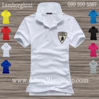 Áo thun cao cấp Lamborghini trắng, vàng, đỏ, xanh rêu, xanh navi.