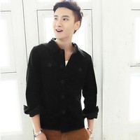 Áo Khoác Nhung cài nút - KB013 nâu
