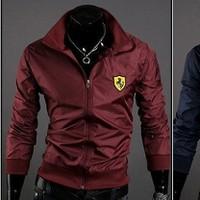 Áo Khoác dù Ferrari TT327 đỏ