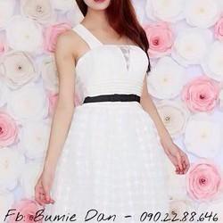 Đầm xòe công chúa 1 dây chéo, hàng thiết kế cao cấp, fom chuẩn