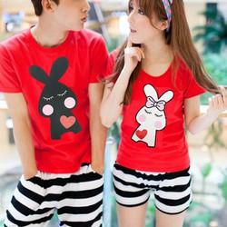 Áo đôi tình nhân hình thỏ đáng yêu