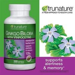 Trunature® Gingo Bilba with Vinpocetine, 300 viên