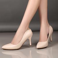Giày cao gót mũi nhọn màu be sang trọng CG666B