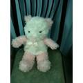 Thú nhồi bông Teddy bear trắng hồng lông xù G023