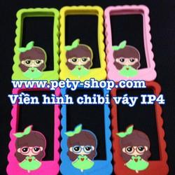 Ốp Viền Hình Chibi Váy iPhone 4 iPhone 4S
