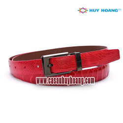 Thắt lưng nữ da đà điểu Huy Hoàng màu hồng