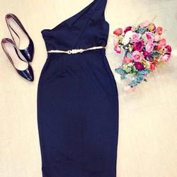 Đầm ôm lệch vai sang trọng, hàng thiết kế , fom chuẩn