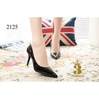 Giày cao gót nữ - giày cao gót - Giày cao gót mũi nhọn đen bóng