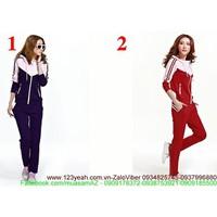 Bộ quần áo thể thao phối màu sành điệu năng động mSETT46