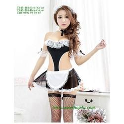 C043 Nữ hầu gái phục vụ sexy cosplay hóa trang