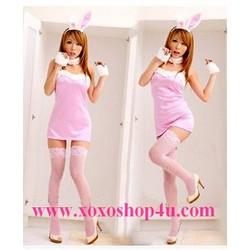 C001 Hóa trang thành nàng thỏ hồng dễ thương