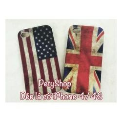 Ốp Lưng Dẻo lá Cờ iPhone 4 4S 5 5S SE