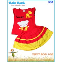 Bộ váy bé gái Honey bear xinh xắn
