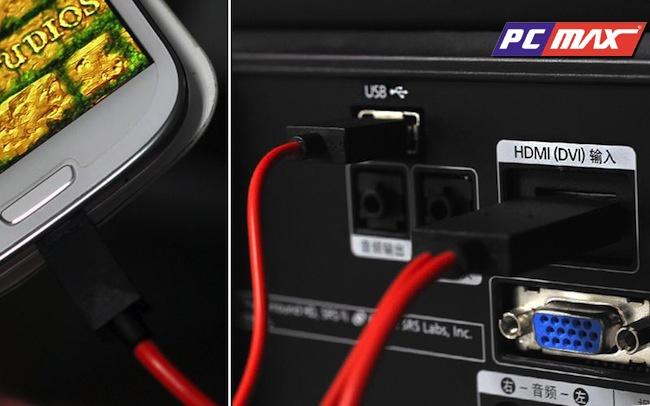 Dây Cáp Micro USB to HDMI (MHL) cho điện thoại Samsung Note,S3,HTC,LG,Sky chất lượng tốt giá rẻ nhất