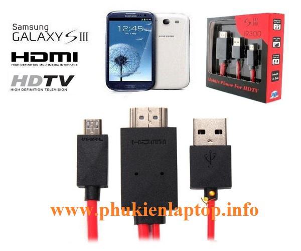 Cáp MHL microUSB to HDMI 1