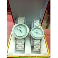 Đồng hồ tình nhân hoa hồng tình yêu dây đá composite DHTN90