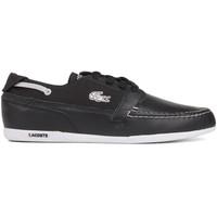 Giày Lacoste Dreyfus Leather Boat Black Shoes