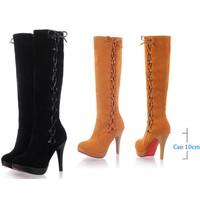 Giày boot cao gót duyên dáng - màu đen