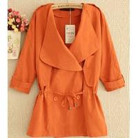 Áo khoác vest cách điệu tay lửng - màu cam