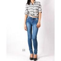 Quần jeans nữ Zara skinny denim, mài thanh lịch 078