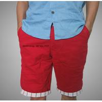 Quần kaki nam lửng màu đỏ tươi QKL63