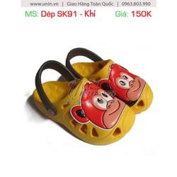 Dép SK91 Hình Khỉ- Màu Vàng