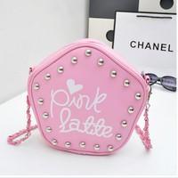 Túi xách Pink Latte nạm đinh xinh xắn