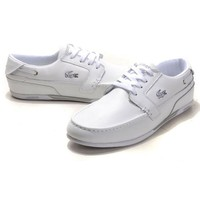 Giày Lacoste Dreyfus Leather White Boat Shoes