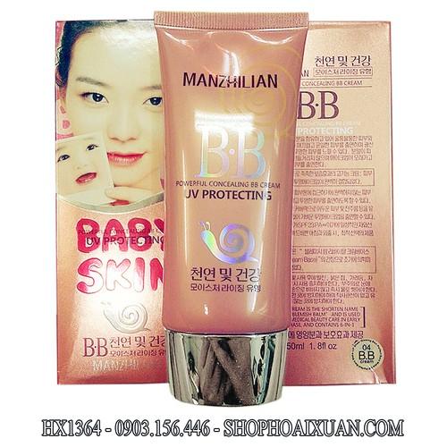 Kem BB cream ỐC SÊN Baby Skin MANZHILIAN UV PROTECTING KOREA - HX1364 - 3833314 , 998337 , 15_998337 , 280000 , Kem-BB-cream-OC-SEN-Baby-Skin-MANZHILIAN-UV-PROTECTING-KOREA-HX1364-15_998337 , sendo.vn , Kem BB cream ỐC SÊN Baby Skin MANZHILIAN UV PROTECTING KOREA - HX1364