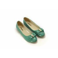Giày búp bê Aqua phối nơ