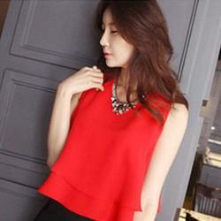 Set áo đỏ và chân váy bút chì thời trang