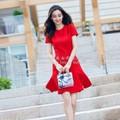 Đầm suông A xòe đỏ