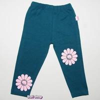 quần ôm in bông màu xanh rêu