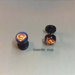 [Greenlife Shop] Bông tai Superman đen - BX391