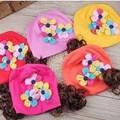 Mũ vải tóc giả hoa ngũ sắc