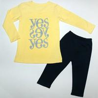 Quần áo bé gái in yes
