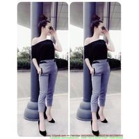 SIU HOT GIRL : Set áo form rộng lệch vai quần legging đáng iu zSU319