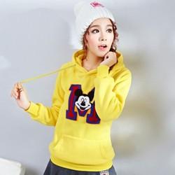 Áo khoác hoodie chữ M phối MICKEY xinh iu